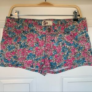 •SO Brand• 100% Cotton Floral Shorts - Size 11
